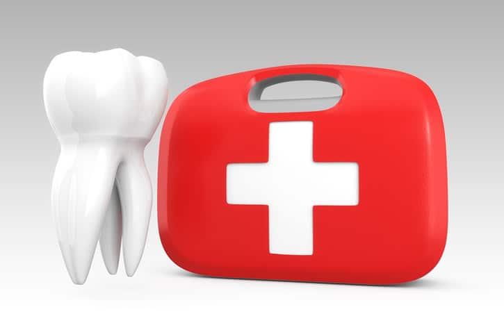 botiquín de atención dental básica